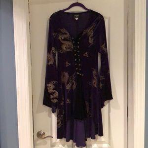 Dresses & Skirts - Shrine purple velvet dragon corset dress - so cool